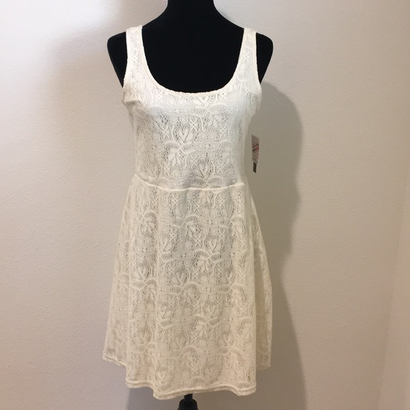 Metaphor Cream Lace Tank Dress Size Small Nwt